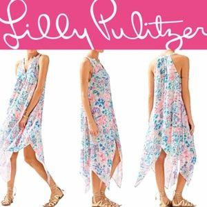 Lilly Pulitzer Monica Beach Dress Serene Blue